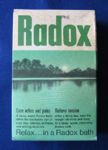 Radox pine bath salts, with original contents, 1970s