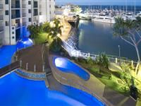 Aerial View of Pool at Night – Mantra Hervey Bay