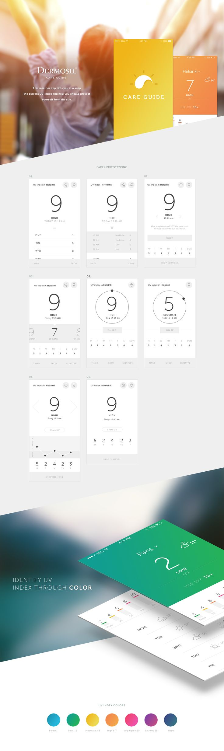 Care Guide on Behance