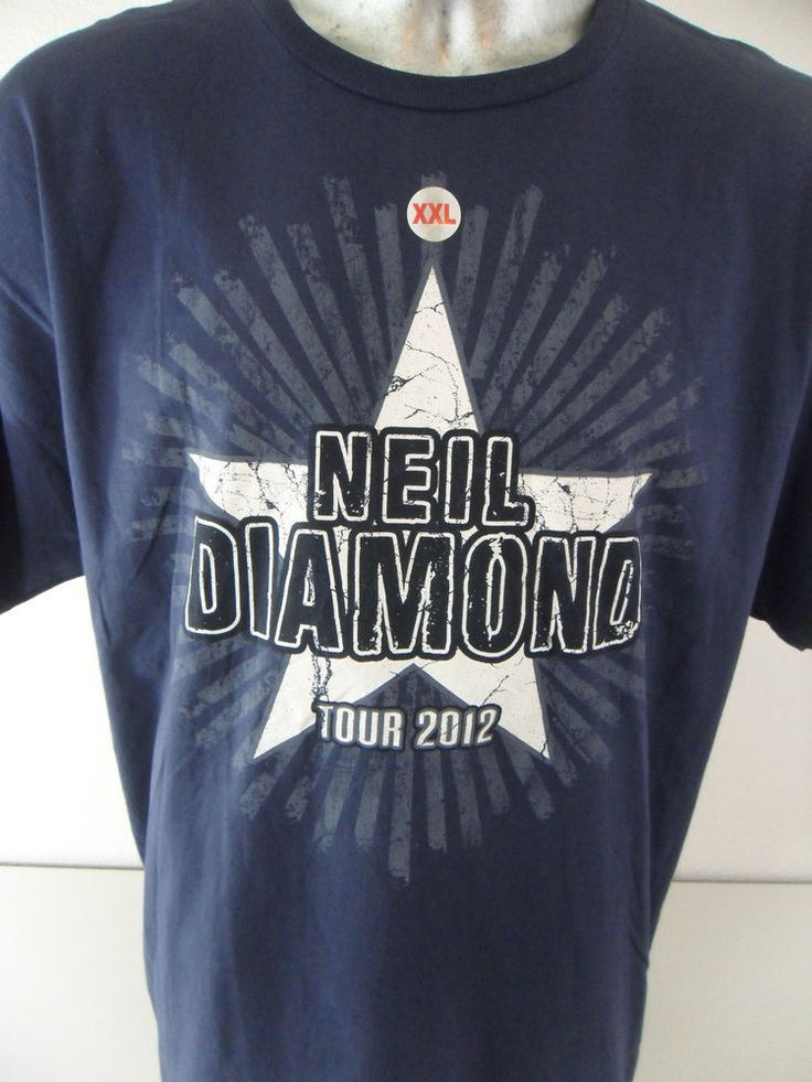 Neil Diamond 2012 Concert Tour 2X T Shirt NOS Sweet Caroline Love On the Rocks | Clothing, Shoes & Accessories, Men's Clothing, T-Shirts | eBay!