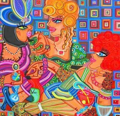 #modern #art #painting #portrait #drinks