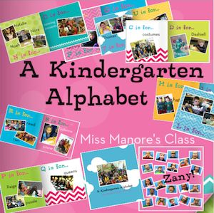 Such a cute idea!  classroom made an alphabet book and printed it from shutterfly! too cute!