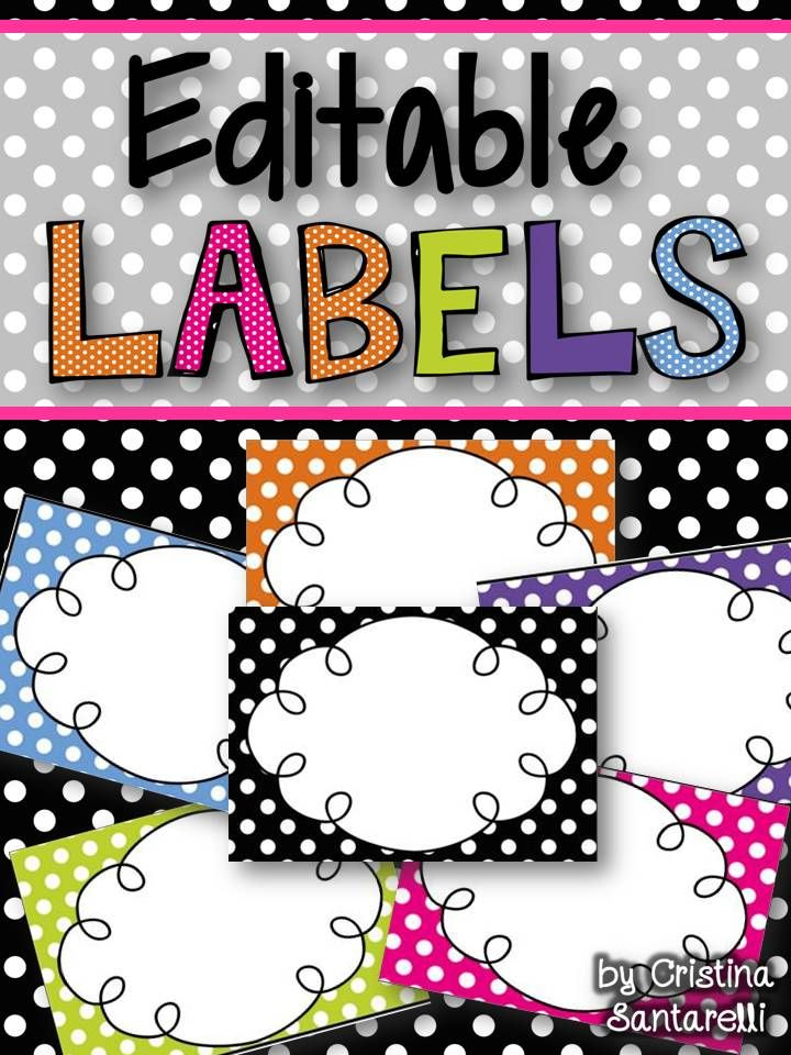 Editable Labels!