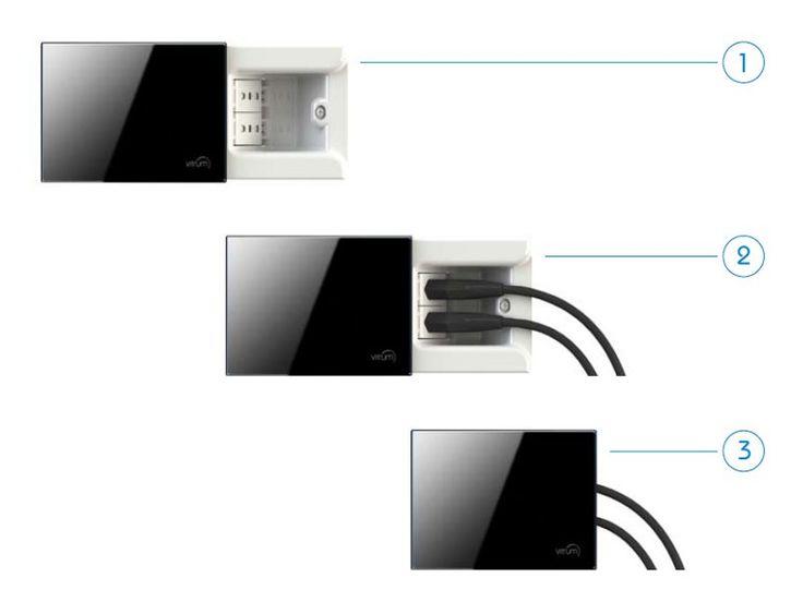 Hideaway power socket cover plate VITRUM PRESA - VITRUM by Think Simple