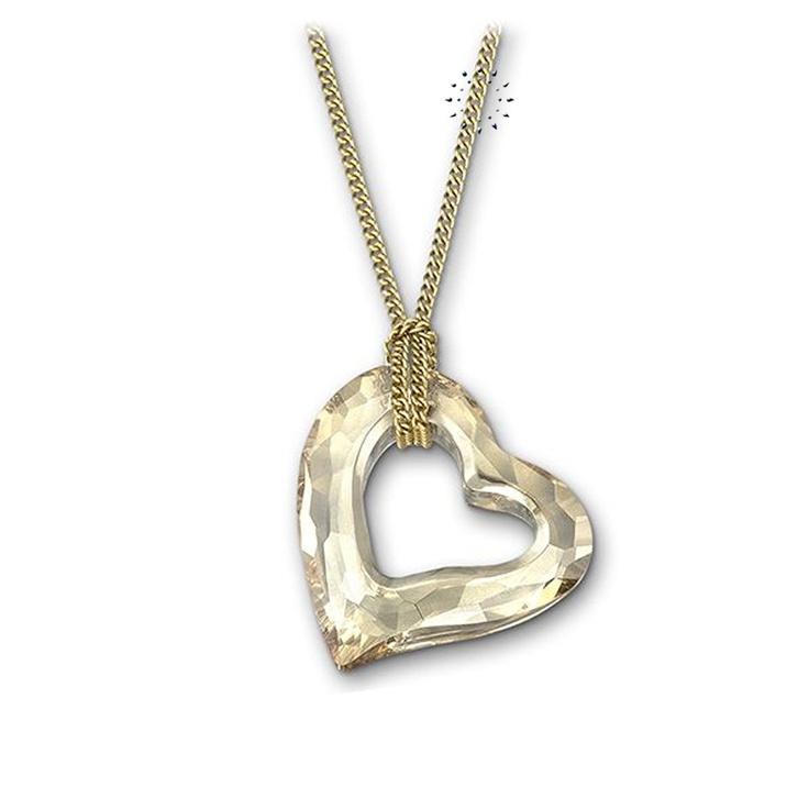 Κρεμαστό Mini Golden Shadow Loveheart Swarovski  89€  http://www.kosmima.gr/product_info.php?manufacturers_id=62_id=18404