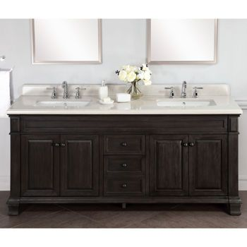 kingsley 72 bathrooms double sink vanity vanity. Black Bedroom Furniture Sets. Home Design Ideas