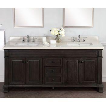 Kingsley 72 Double Sink Vanity With Alpine Mist Countertop Bathrooms Pinterest Mists