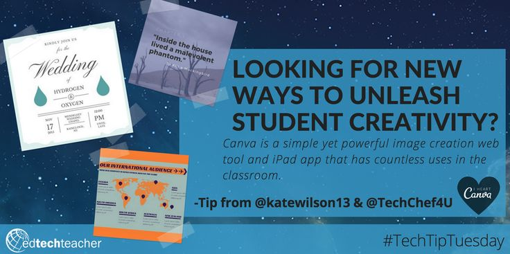 Back to School Ideas for using CANVA! - Webinar and Slides! http://edtechteacher.org/back-to-school-with-canva/