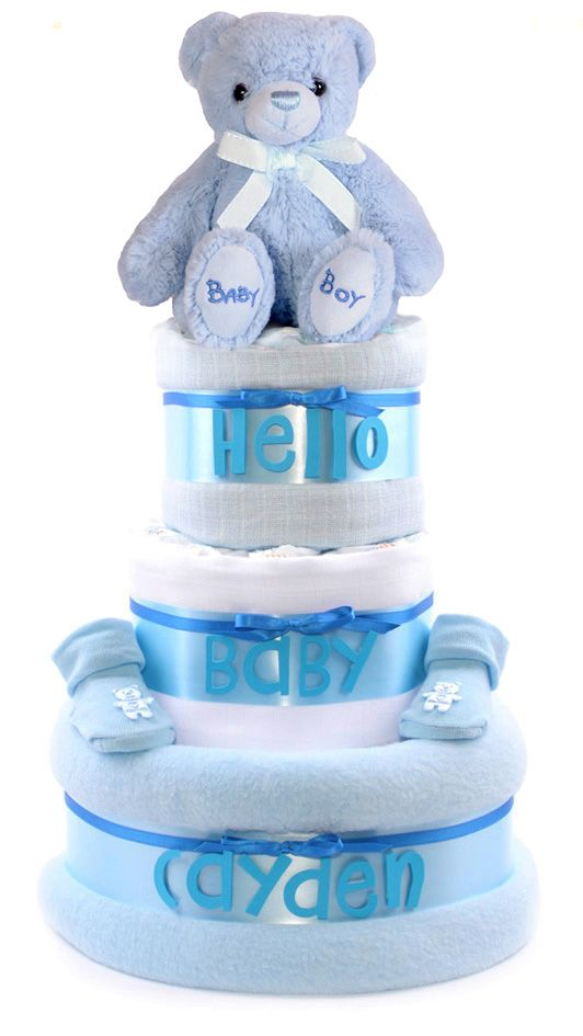 17 best boys blue baby shower nappy cakes baby gift hampers personalised baby shower gifts and nappy cakes from pure nappy cakes ltd welcome to our trendy and exclusive range of personalised nappy cakes negle Choice Image