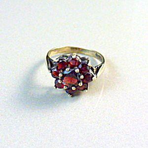 Vintage Garnet Cluster Ring.