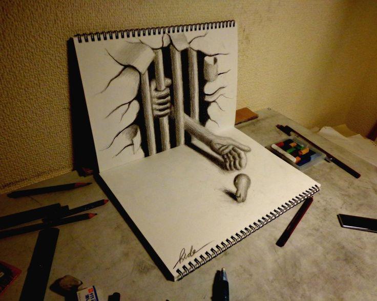AdictaMente: Impresionantes dibujos en 3D hecho con lápiz y papel.