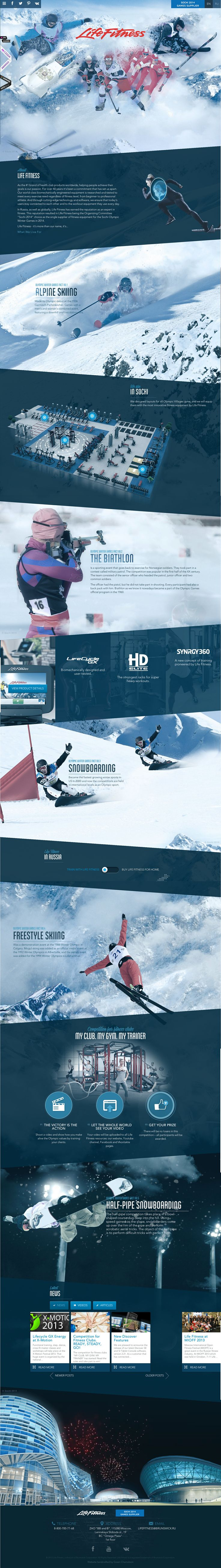Lifetime Fitness Games Supplier in Sochi Russia For Winter Olympics 2014 Info Webpage