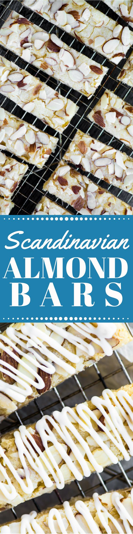 Scandinavian Almond Bars are soft, chewy shortbread bars literally packed with almond flavor ~ they freeze beautifully, and make fabulous holiday gifts...but don't give them all away, save a few for yourself, you deserve it!