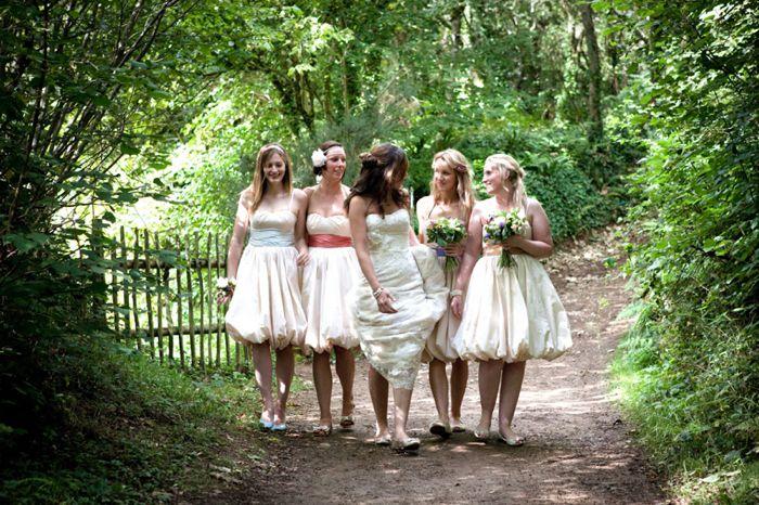 Outdoor wedding ceremony at Cornish Tipi Weddings in Cornwall Cornwall wedding photographer - www.greenphotographic.co.uk