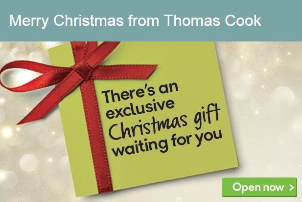 Christmas Banner from Thomas Cook #Web #Digital #Banner #Online #Marketing #Travel #Christmas