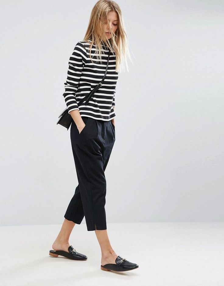 Get this Asos's capri trousers now! Click for more details. Worldwide shipping. ASOS Capri Trousers - Black: Trousers by ASOS Collection, Breathable woven cotton, Mid-rise waist, Zip fly with hook and bar fastening, Functional pockets, Cropped leg, Relaxed fit, Machine wash, 100% Cotton, Our model wears a UK 8/EU 36/US 4 and is 174 cm/5'8.5� tall. Score a wardrobe win no matter the dress code with our ASOS Collection own-label collection. From polished prom to the after party, our…