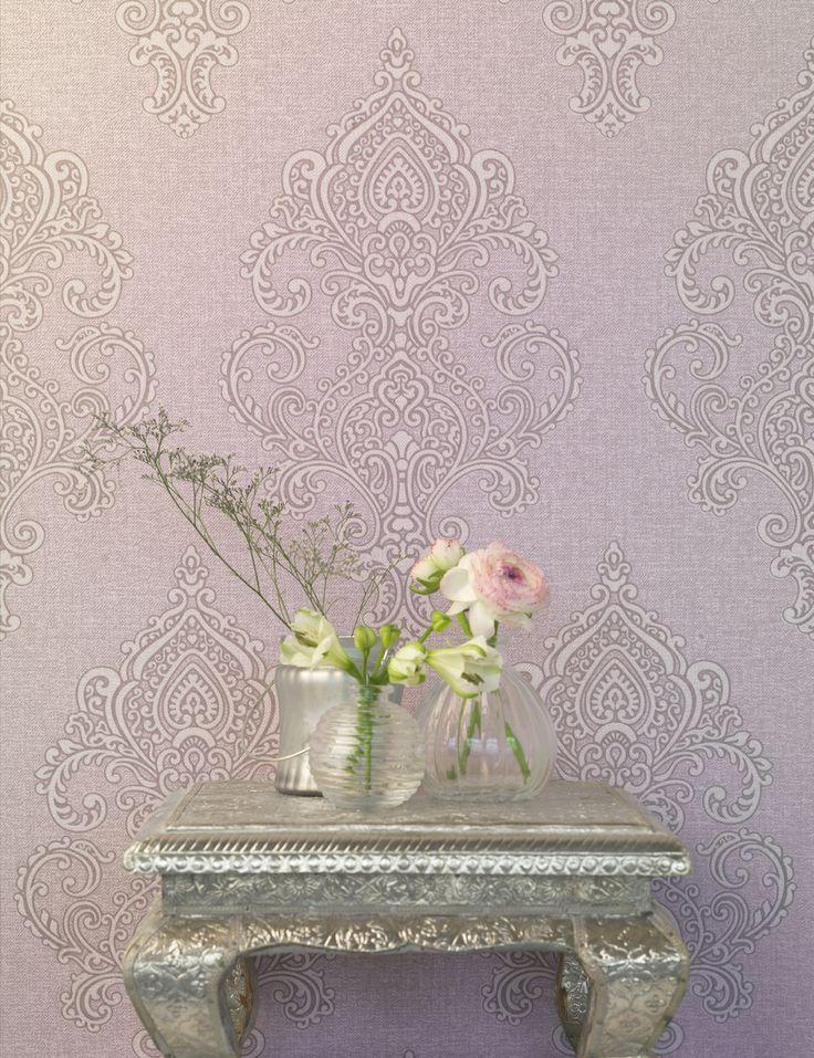 46 besten Wohnzimmer-Tapeten mit eleganten Ornamenten - Amira von ...