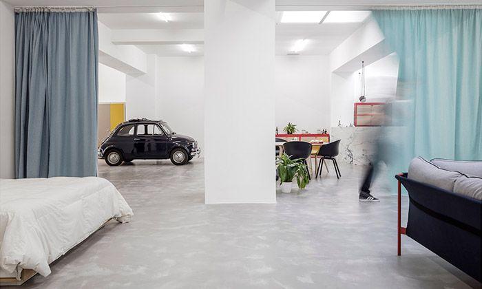 Pár si přestavěl lisabonskou garáž na moderní byt