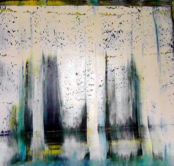 cascade-et-reflet-2.jpg (Peinture),  50x50x4 cm par CHARLES CORNIL peinture à l'huile