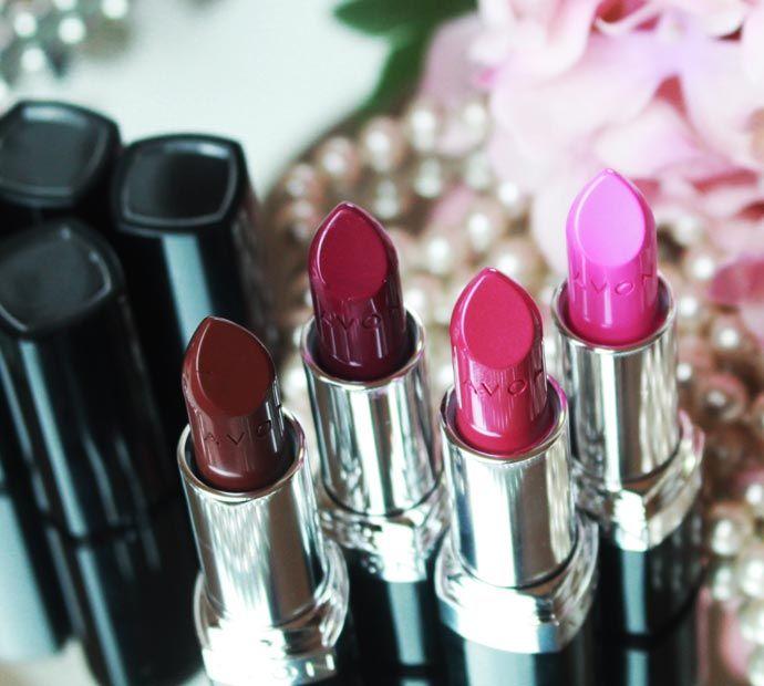 Batom Ultra Color Intenso da Avon – Uva, Malva, Pink e Marrom