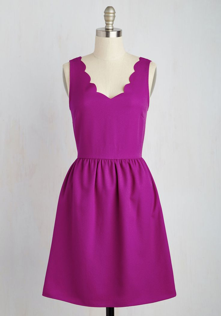 Reliably Blithe Dress in Orchid - Pink, Solid, Casual, Sundress, Valentine's, A-line, Sleeveless, Spring, Woven, Good, Mid-length, Variation