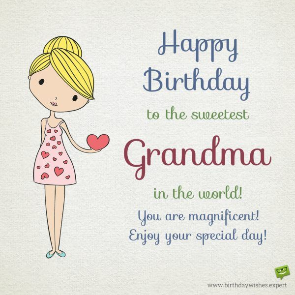 Best 25 happy birthday grandma ideas on pinterest for Birthday gifts for grandma from granddaughter
