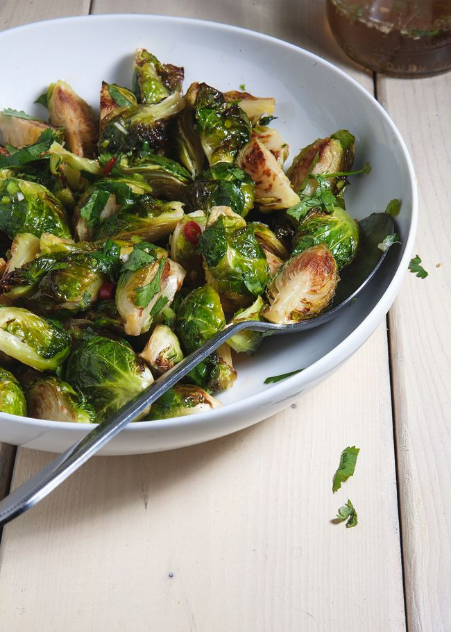 This brussels sprouts recipe is by David Chang of Momofuku. Enough said, maybe? If not, consider the brilliance behind this dish. It infuses stodgy brussels sprouts with hints of savory, sweet, tart, and spicy.