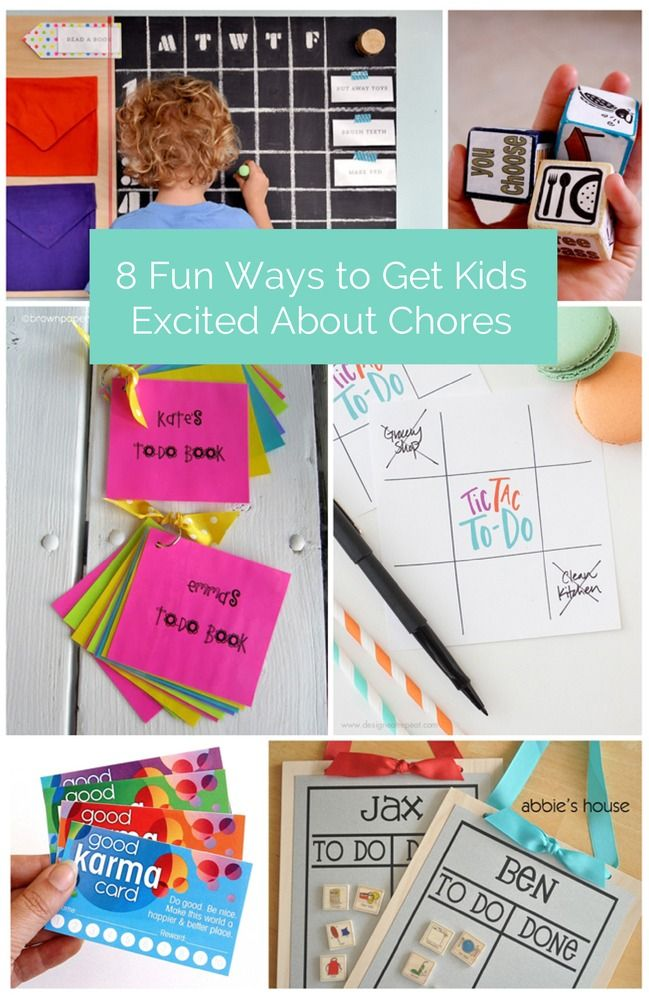 Creative and fun ways to get kids to do chores.