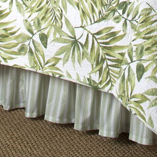 Tropical Leaves Green Quilt Set (Bedskirt and Euro Shams Sold Separately) | Overstock.com Shopping - The Best Deals on Quilts