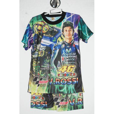 Kaos Estelan Anak-anak Gambar Valentino Rossi