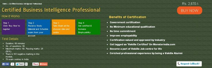 Certification in Business Intelligence