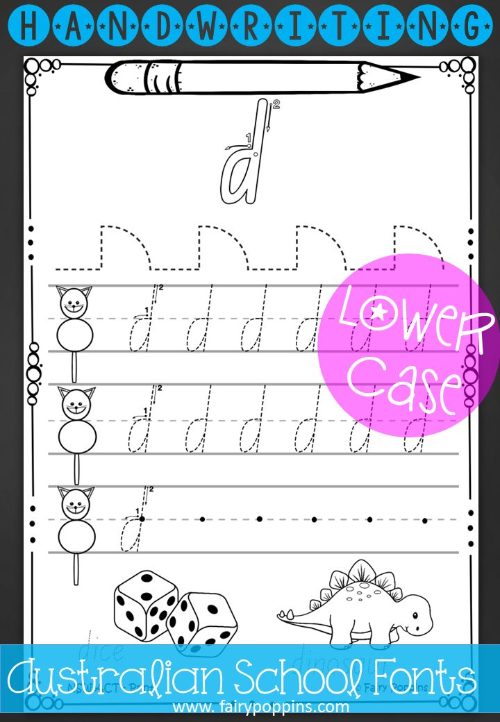 Handwriting worksheets. Lower case letters in print and pre-cursive ...