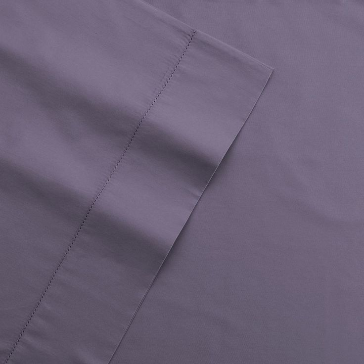 Grand Collection 400 Thread Count Hemstitch Solid Sheet Set, Purple Cal King