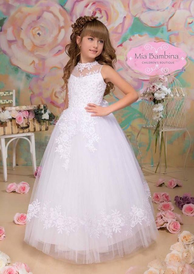 32d02ca03 RODIKA ($130.00) Pretty #girls_Communion_dress for Holly Communion. This is  the perfect tulle and lace Communion dress. If you need a #little_girls  dress ...