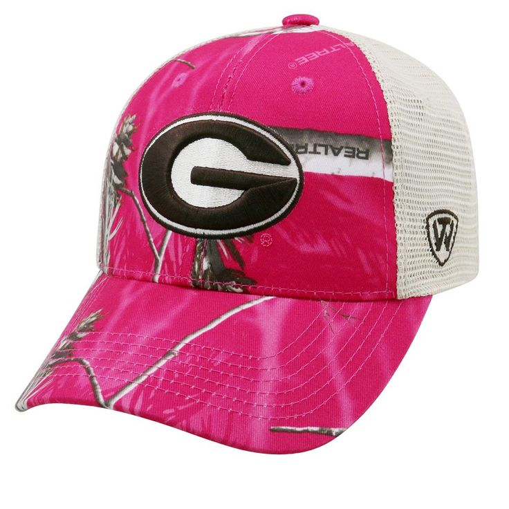 Adult Top of the World Georgia Bulldogs Doe Camo Adjustable Cap, Women's, Med Pink