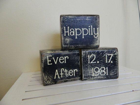 Wedding block decoration or gift for wedding by FayesAttic11: Wedding Shower, Vintage Wedding, Craft, Wedding Block, Wedding Gift, Gift Ideas, Personalized Wedding, Christmas Gift