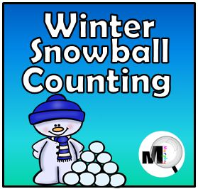 Boom Cards - Winter Snowball Counting 0-10