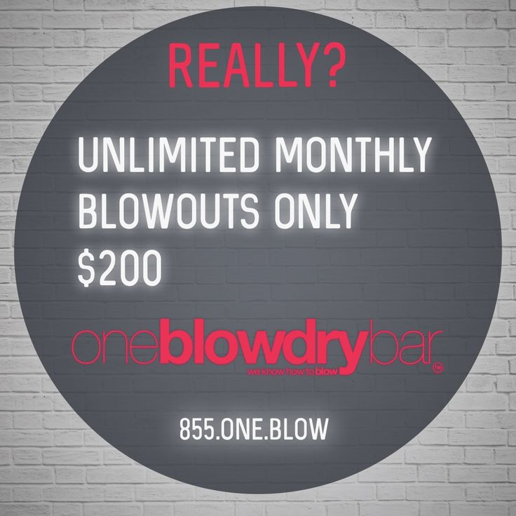 one blow dry bar offers unlimited blow out | blow dry at their one blow dry bar red bank, New Jersey or there Macy's Herald Square location in New York City. Call oneblowdrybar to book your next blowout at 855.ONE.BLOW