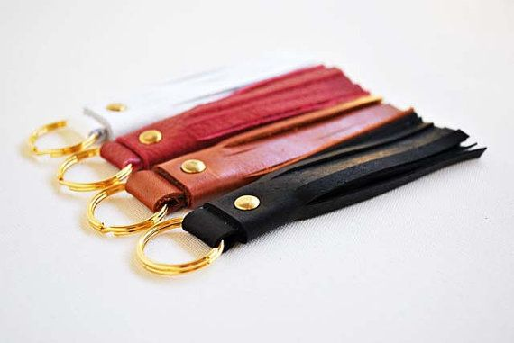Gorgeous leather tassel keychains handmade by SPIRITFIRE.