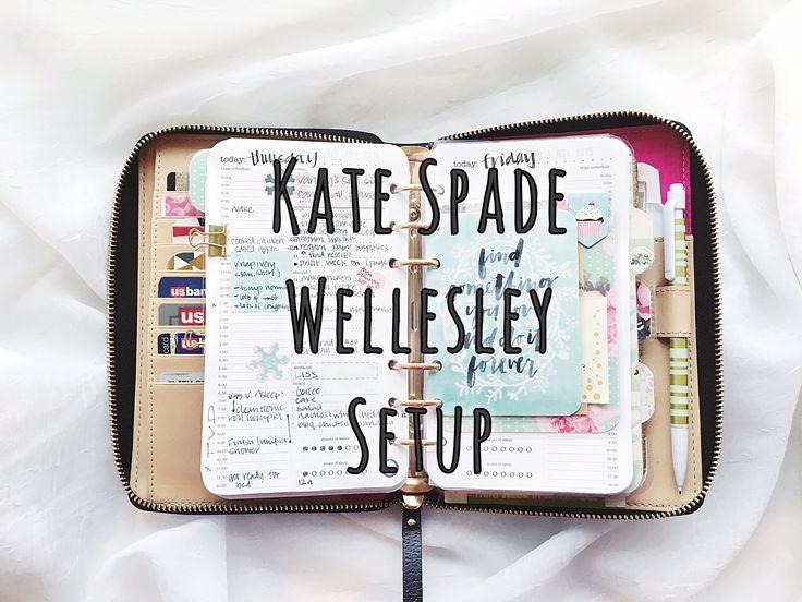 Kate Spade Wellesley Planner Setup Fall 2015 - YouTube