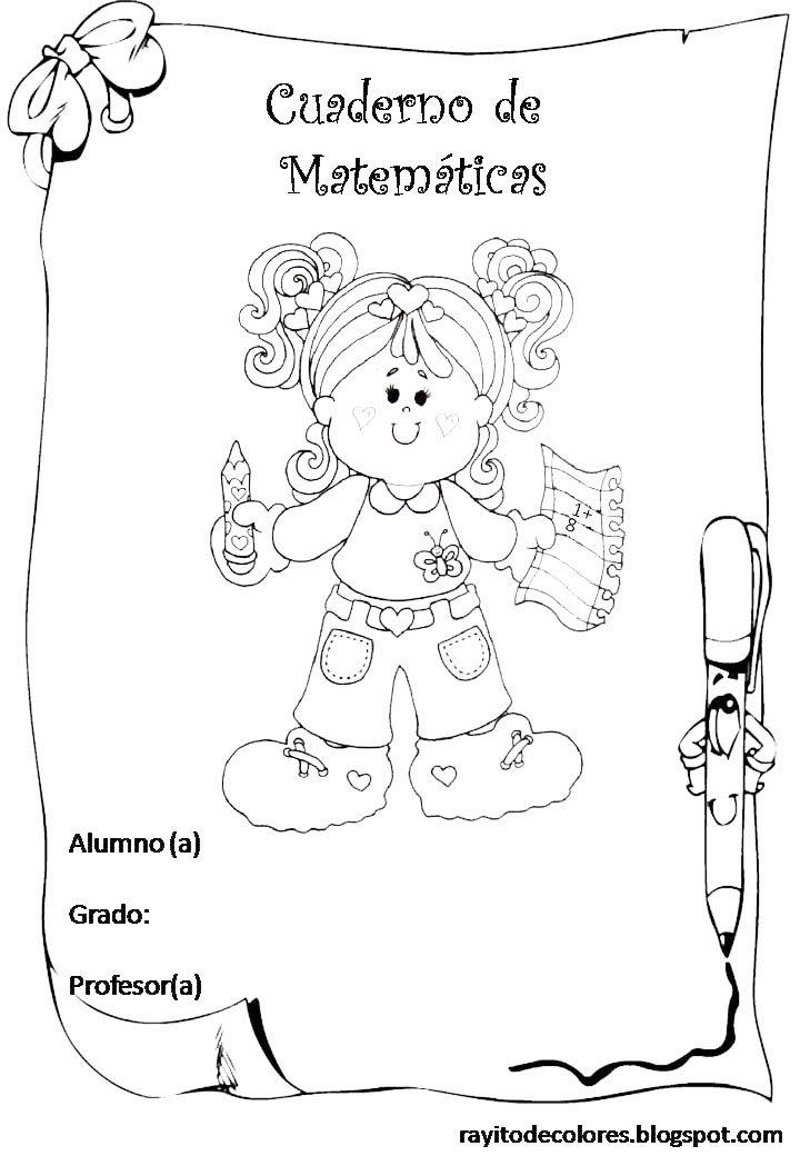 Carátula Para Cuaderno De Matemáticas Carátulas Dibujos Para