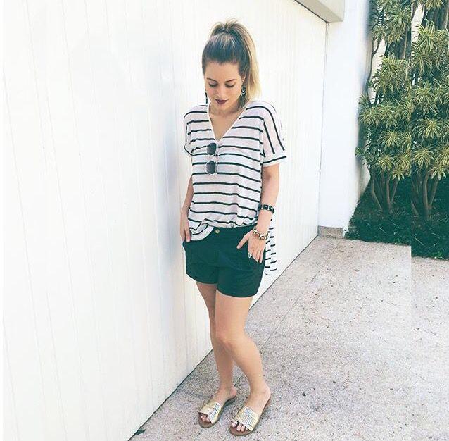 Stripes / Look do dia / Sherons/ Andressa Almeida
