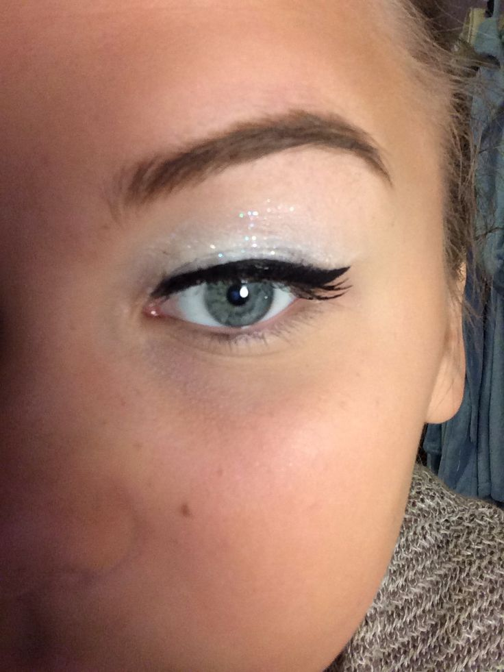 White makeup look