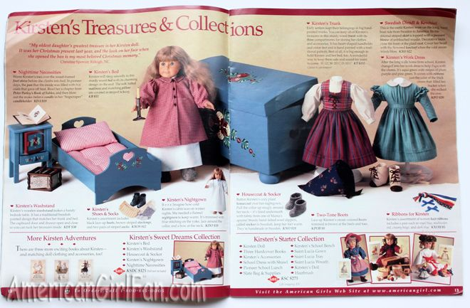 Kirsten's Bedtime Collection, 1997 American Girl/Pleasant Company Catalog