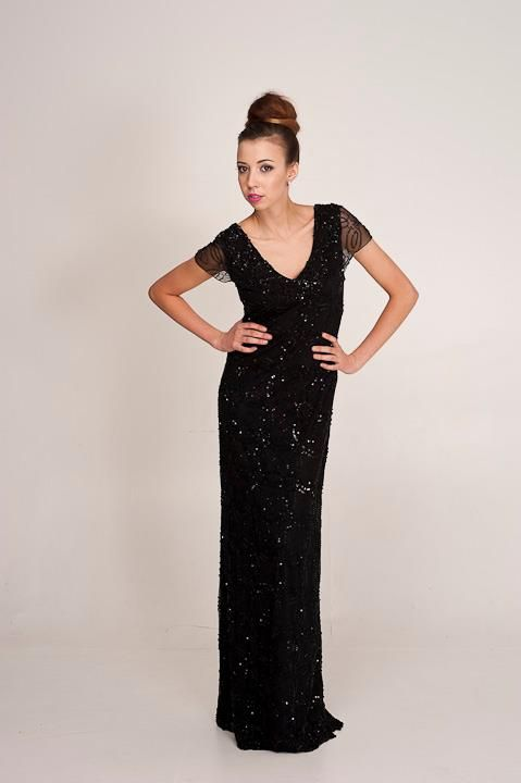 ZOE:     A stunning hand beaded gown perfect for an elegant evening. Perth Designer of Ball Gowns And Evening Wear