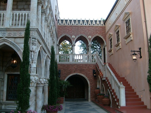 Courtyard off the Italy pavilion in World Showcase. Disney World, Florida