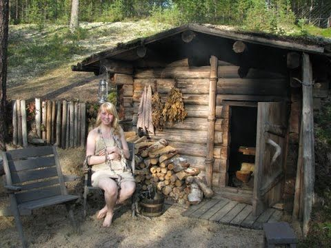 Русская баня, зима, 18+