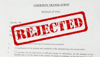 How to get around departure flight for Visa applications