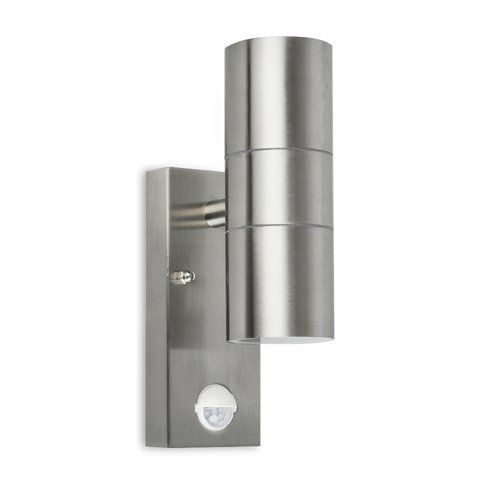 Hashtag Home Baze 2 Light Led Outdoor Armed Sconce With Motion Sensor Up Down Wall Light Outdoor Lighting Wall Lights
