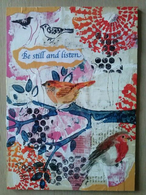 Mixed media first try by Jitske